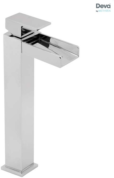 Additional image for Waterfall Tall Mono Basin Mixer Tap (Chrome).