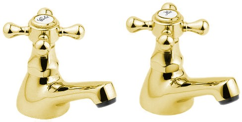 Additional image for Basin Taps (Pair, Gold).