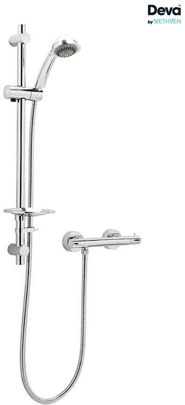 Additional image for Thermostatic Bar Shower Valve With Multi Mode Kit (Chrome).