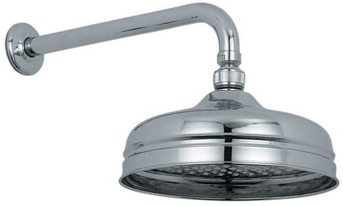 """Additional image for Traditional 8"""" fixed shower head and arm in chrome."""