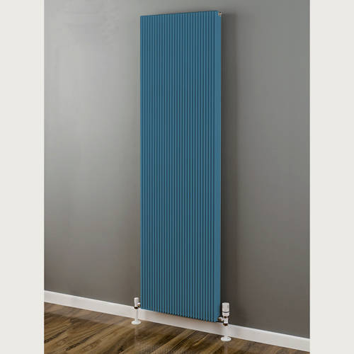 Additional image for Vertical Aluminium Radiator 1526x480 (Pastel Blue).