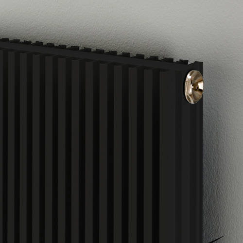 Additional image for Vertical Aluminium Radiator 1526x560 (Jet Black).