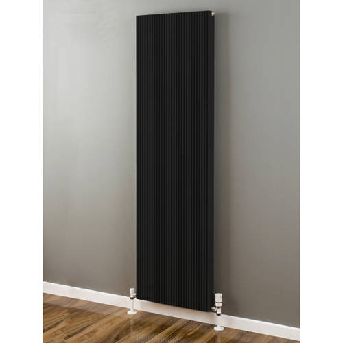 Additional image for Vertical Aluminium Radiator 1826x480 (Jet Black).