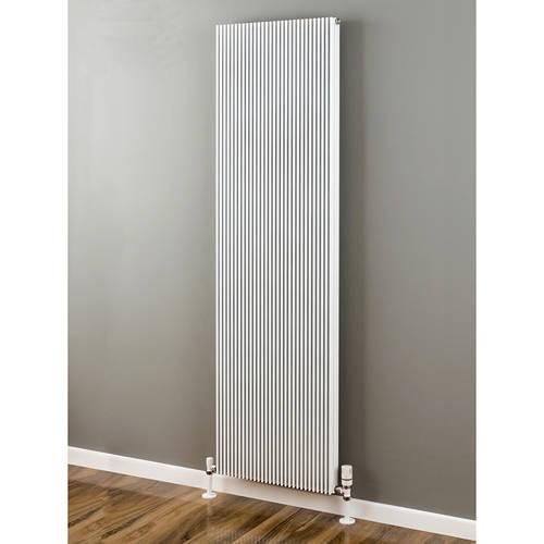 Additional image for Vertical Aluminium Radiator 1826x560 (White).