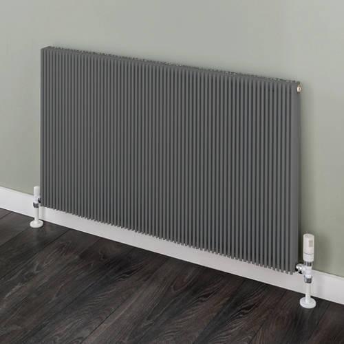 Additional image for Horizontal Aluminium Radiator 526x880 (Grey).