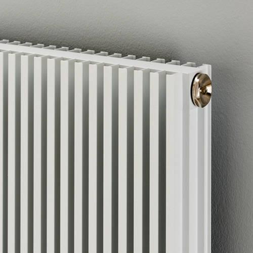 Additional image for Horizontal Aluminium Radiator 626x880 (White).