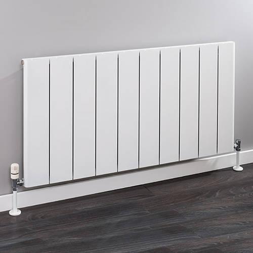 Additional image for Horizontal Aluminium Radiator 600x956 (White).