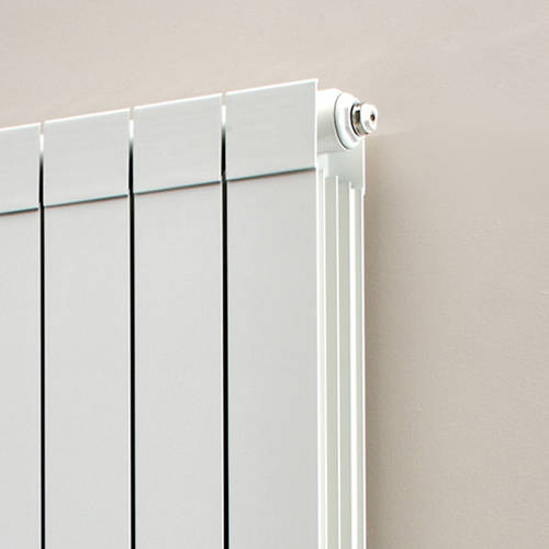 Additional image for Vertical Aluminium Radiator & Brackets 1846x260 (White).