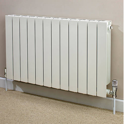 Additional image for Horizontal Aluminium Radiator & Brackets 440x820 (White).