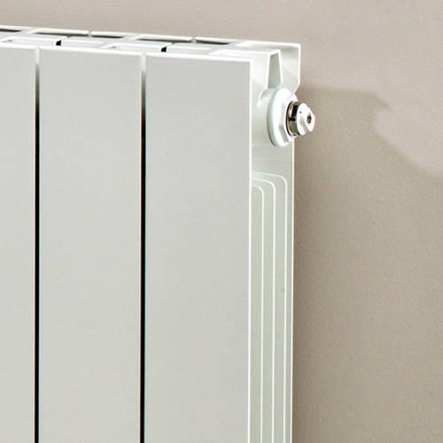 Additional image for Horizontal Aluminium Radiator & Brackets 590x980 (White).