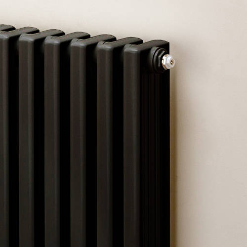 Additional image for Vertical Aluminium Radiator 1470x520 (Jet Black).