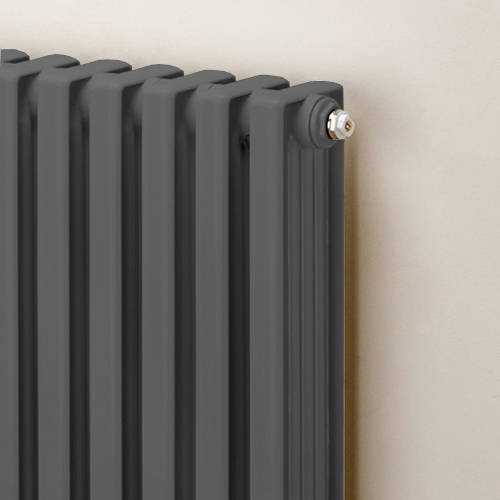 Additional image for Horizontal Aluminium Radiator 568x420 (Window Grey)