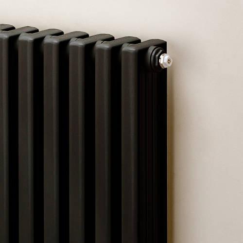 Additional image for Horizontal Aluminium Radiator 568x420 (Black).