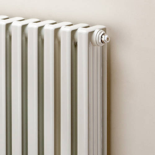 Additional image for Horizontal Aluminium Radiator 668x820 (White).