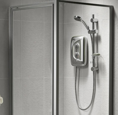 Additional image for Aqua 3500M Electric Shower 8.5kW (All Chrome).