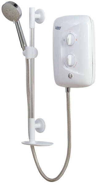 Additional image for Aqua 3500M Electric Shower 9.5kW (White & Chrome).