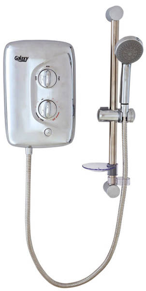 Additional image for Aqua 3500M Electric Shower 9.5kW (All Chrome).