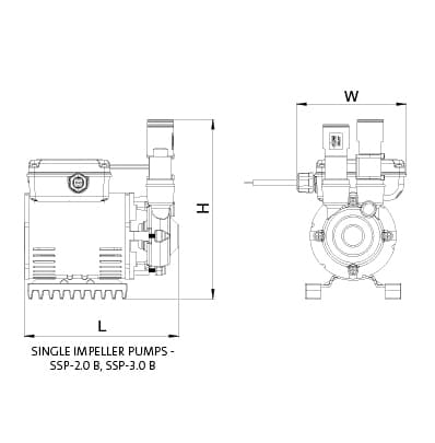 Additional image for SSP-2.0B Single Ended Shower Pump (2.0 Bar, Positive).