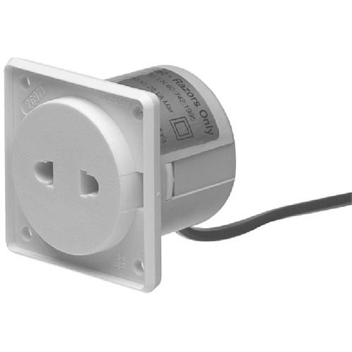 Additional image for Shaver Socket With Transformer & Hinged Cover (White).