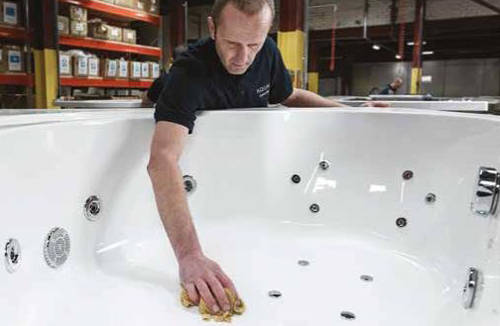 Additional image for Orlando RH Corner Whirlpool Bath With 8 Jets & Panel, 1500x1040.