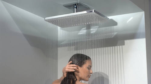 Additional image for Rainmaker 2 Jet Shower Head & Arm (460x300, White & Chrome).