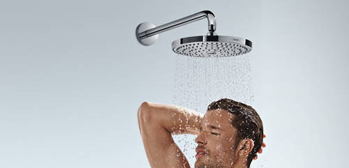 Additional image for Raindance S 240 2 Jet Shower Head (240mm, White & Chrome).