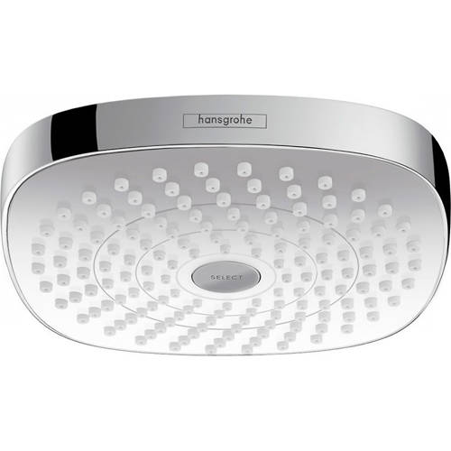 Additional image for Croma Select E 180 2 Jet Shower Head (180x180, White & Chrome).