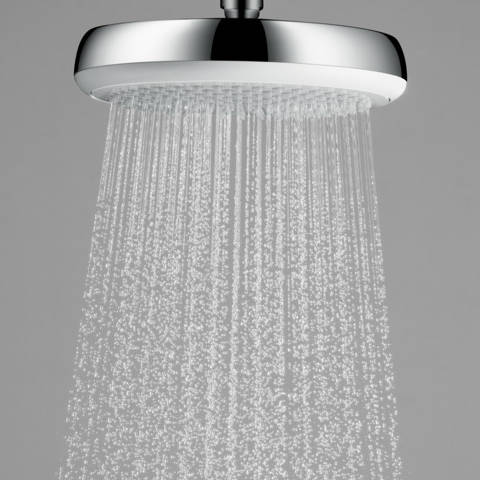 Additional image for Crometta 180 1 Jet Shower Head (180mm, White & Chrome).
