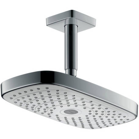 Additional image for Raindance E 300 2 Jet Eco Shower Head & Arm (White & Chrome).