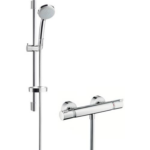 Additional image for Ecostat Combi Bar Shower Set With 650mm Slide Rail Kit.