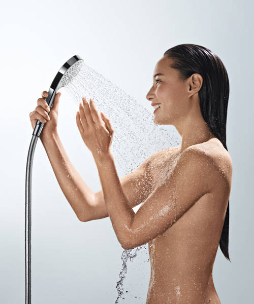 Additional image for Croma Select S Eco Semipipe Shower Pack (White & Chrome).
