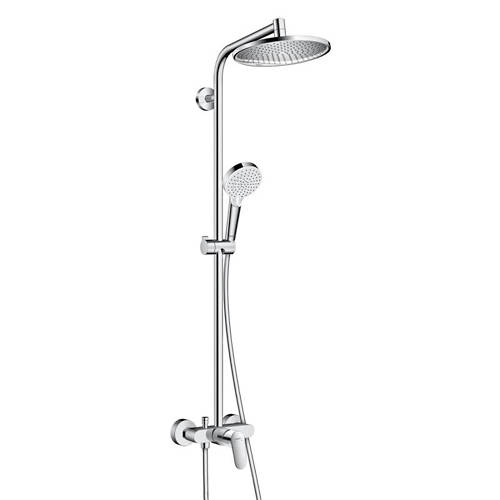 Additional image for Crometta S 240 1 Jet Showerpipe Pack With Manual Lever Handle.