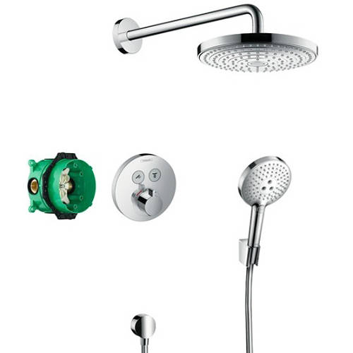 Additional image for Shower Set With Valve, Raindance Head & Select Handset.