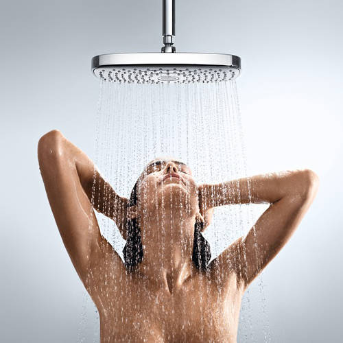 Additional image for Raindance E 300 2 Jet Shower Head & Arm (300x160mm, Chrome).