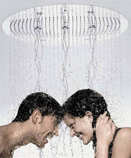 Additional image for Rainmaker 600mm 3 Jet Shower Head, LEDs & Valve (Chrome).