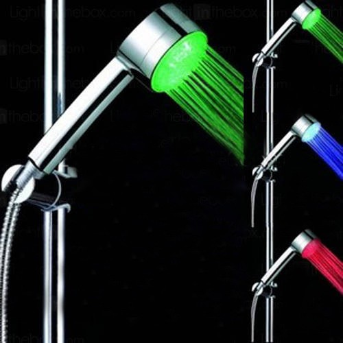Additional image for Shower Handset With LED lights (Chrome).