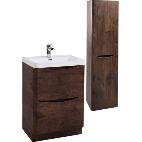 Additional image for Bali Bathroom Furniture Pack 04 (Chestnut).