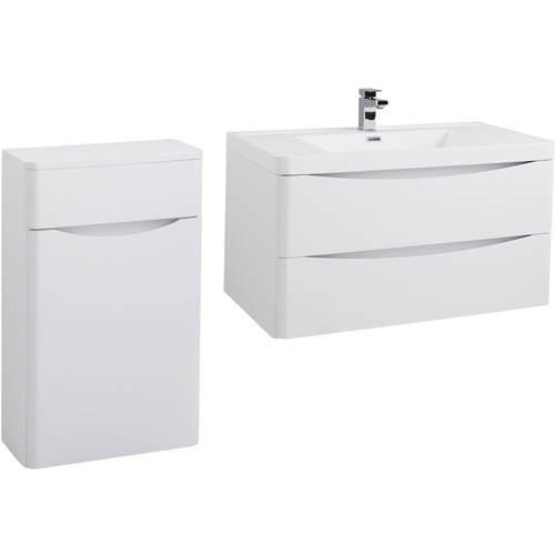 Additional image for Bali Bathroom Furniture Pack 08 (White Ash).