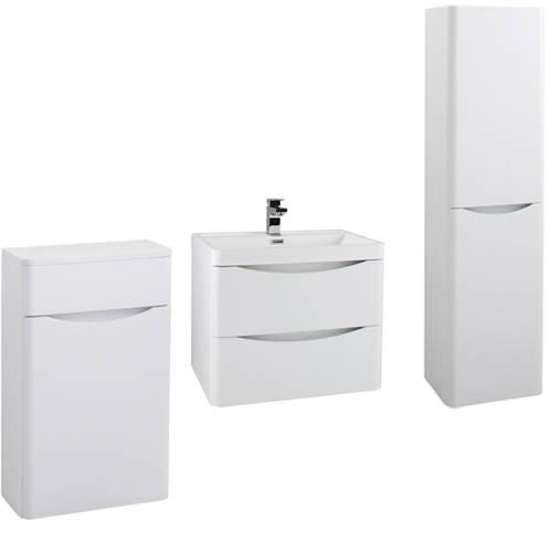 Additional image for Bali Bathroom Furniture Pack 11 (White Ash).