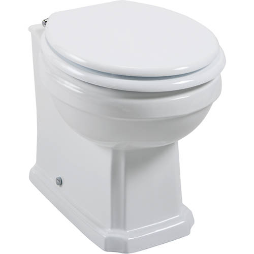 Additional image for Cromford Traditional Back To Wall Toilet Pan (BTW).