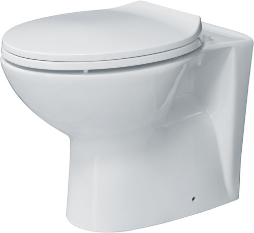 Additional image for Back To Wall Toilet With Seat. Horizontal Outlet.  Size 360x530mm.