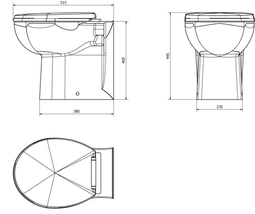 Additional image for Churwell Back To Wall Toilet Pan.