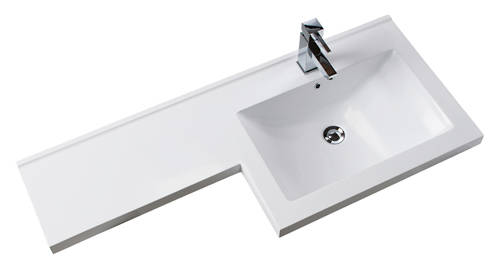 Additional image for L Shaped Vanity Pack With BTW Unit & Basin (RH, Anthracite).