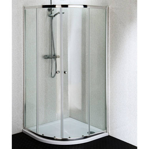 Additional image for 900mm Quadrant Shower Enclosure With Stone Resin Tray (4mm).