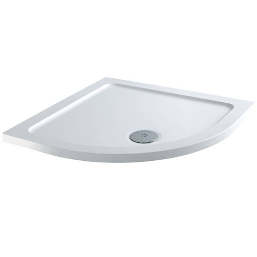 Additional image for Quadrant Stone Resin Shower Tray & Waste 900x900mm (Low Profile).