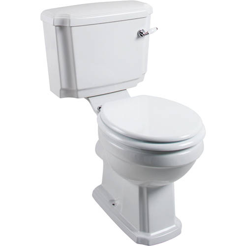 Additional image for Cromford Traditional Toilet & Cistern With Ceramic Handle.
