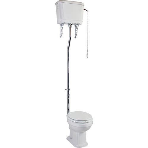 Additional image for Cromford Traditional High Level Toilet & Cistern With Flush Pipe.