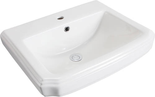 Additional image for Cromford Traditional Bathroom Suite With 1 Tap Hole Basin.
