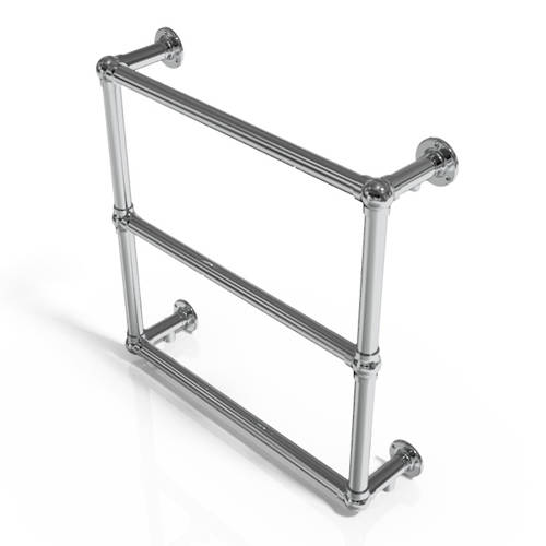 Additional image for Traditional Wall Mounted Towel Radiator 658x658mm (Chrome).