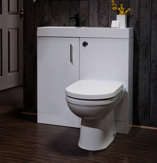 Additional image for Cube Plus Pack With White Vanity, BTW Unit & Basin (LH).